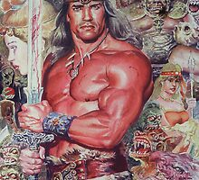 Arnold as Conan The Barberian -Movie by Atula Siriwardane