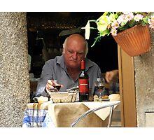 Oporto: Quiet Lunch Photographic Print