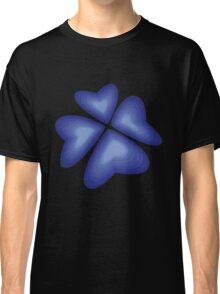 blue heart flower Classic T-Shirt