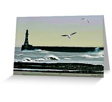 Roker Pier, Sunderland. Greeting Card
