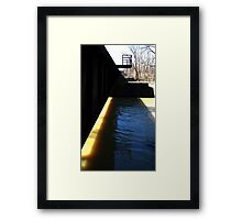 0719 - HDR Panorama - Rail Bridge Framed Print