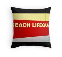 Beach Lifeguards Throw Pillow