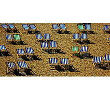 deck chairs,Brighton Photographic Print