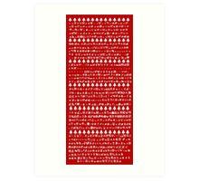 "Christmas Retro Pokedex Design ""1 - 718"" Art Print"