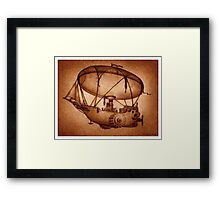 The Indefatigable Investigations Of The Dirigible Dynamo Minerva Framed Print