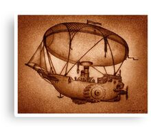 The Indefatigable Investigations Of The Dirigible Dynamo Minerva Canvas Print