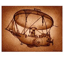 The Indefatigable Investigations Of The Dirigible Dynamo Minerva Photographic Print