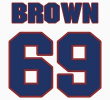 National football player Rush Brown jersey 69 by imsport