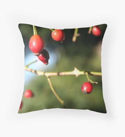 A Red Family Throw Pillow