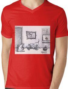 Happy Home  Mens V-Neck T-Shirt