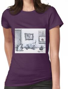 Happy Home  Womens Fitted T-Shirt