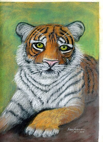 Tiger paw by Hilary Robinson