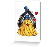 Who is the mad hatter ? Snow White | Blanche Neige  Greeting Card