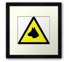 Guard Dog Symbol Framed Print