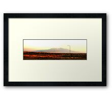 0787 - HDR Panorama - Distant Mountains Framed Print