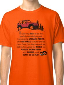 Jeep Wedding Vows Classic T-Shirt