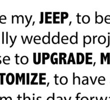 Jeep Wedding Vows Sticker