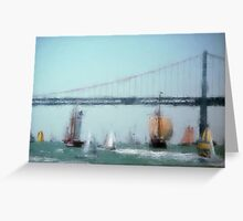 SF Sailing Ships Greeting Card