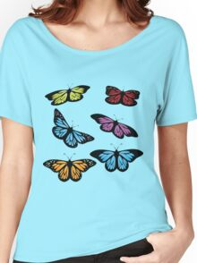 Colored butterflies Women's Relaxed Fit T-Shirt