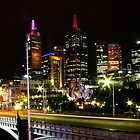 Melbourne city lights by jfpictures