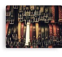 Belts at a Florence bazaar Canvas Print