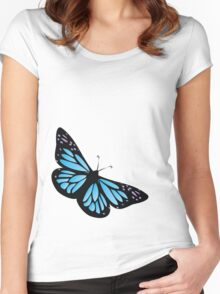 Colored butterfy 4 Women's Fitted Scoop T-Shirt