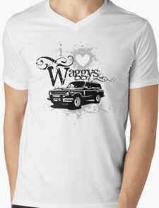 I Love Waggys Mens V-Neck T-Shirt