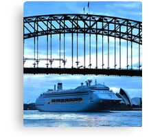OK All On the Count of 1 Duck !, Sydney Harbour, Australia Canvas Print
