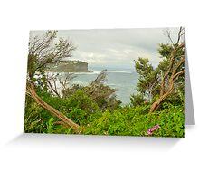 """Split View"" - Bungan Beach , Sydney NSW Australia Greeting Card"