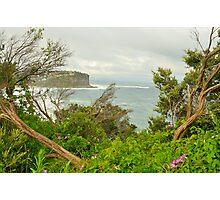 """Split View"" - Bungan Beach , Sydney NSW Australia Photographic Print"