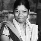 Indian Girl Hyderabad by Andrew  Makowiecki