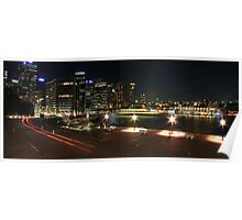 Sydney Harbout Night Skyline Poster