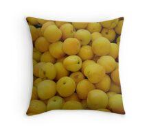 yellow mellow fruit Throw Pillow
