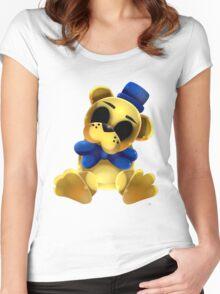 Chibi Golden Freddy Bear Women's Fitted Scoop T-Shirt