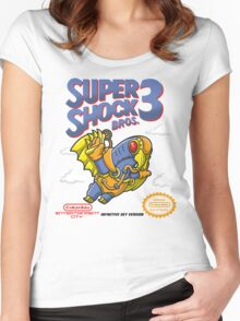 Super Shock Bros 3 Women's Fitted Scoop T-Shirt