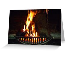 Open Fire - Wilber Farmhouse Greeting Card
