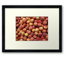 cute peaches Framed Print
