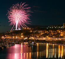 Fireworks at Whitby Regatta by Stuart Brown