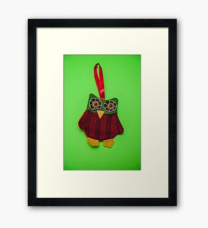 Cute owl decoration Framed Print