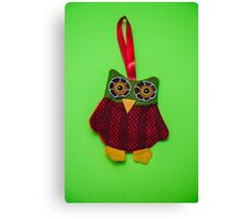 Cute owl decoration Canvas Print