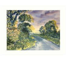 """""""Wild Roses on the Wolds"""" Art Print"""