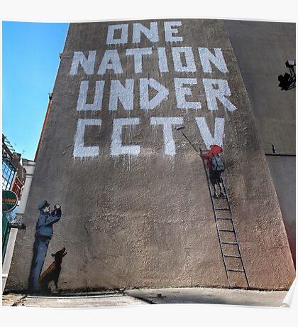 CCTV by banksy Poster