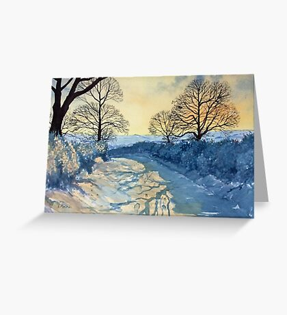 Winter Walk on Wykeham Road Greeting Card