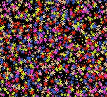 Colorful stars pattern by lalylaura