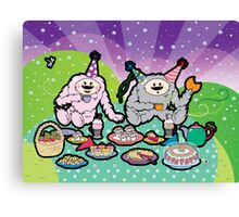 Monster Tea Party Canvas Print