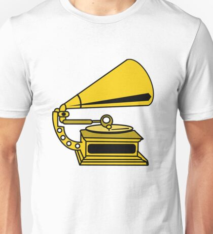 PHONOGRAPH GRAMOPHONE OLD SCHOOL  Unisex T-Shirt