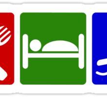 EAT SLEEP SWIM  Sticker