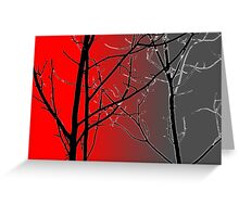 Red And Gray Greeting Card