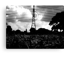 wire-stave Canvas Print