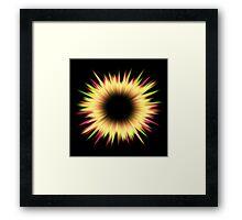 Light burst abstract design Framed Print